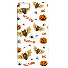 Bat, Pumpkin And Spider Pattern Apple Iphone 5 Hardshell Case With Stand by Valentinaart