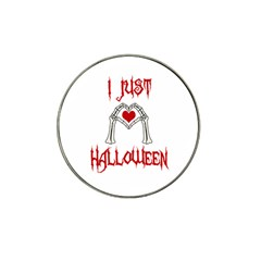 I Just Love Halloween Hat Clip Ball Marker (4 Pack) by Valentinaart