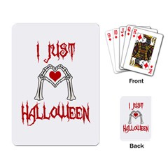 I Just Love Halloween Playing Card by Valentinaart