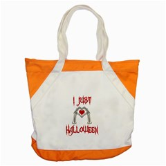 I Just Love Halloween Accent Tote Bag by Valentinaart