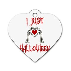 I Just Love Halloween Dog Tag Heart (two Sides) by Valentinaart