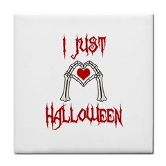 I Just Love Halloween Face Towel by Valentinaart
