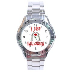 I Just Love Halloween Stainless Steel Analogue Watch by Valentinaart
