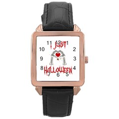 I Just Love Halloween Rose Gold Leather Watch  by Valentinaart
