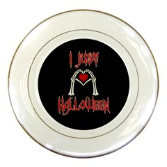 I Just Love Halloween Porcelain Plates by Valentinaart