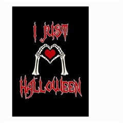 I Just Love Halloween Small Garden Flag (two Sides) by Valentinaart
