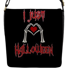 I Just Love Halloween Flap Messenger Bag (s) by Valentinaart