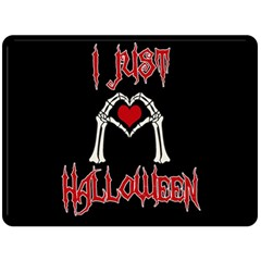 I Just Love Halloween Double Sided Fleece Blanket (large)  by Valentinaart