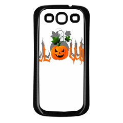 Halloween Samsung Galaxy S3 Back Case (black) by Valentinaart