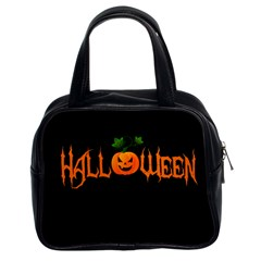 Halloween Classic Handbags (2 Sides) by Valentinaart