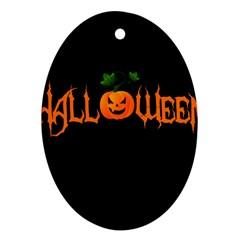Halloween Ornament (oval) by Valentinaart