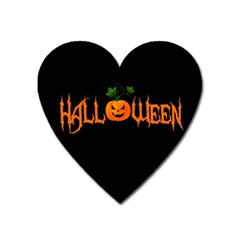 Halloween Heart Magnet by Valentinaart