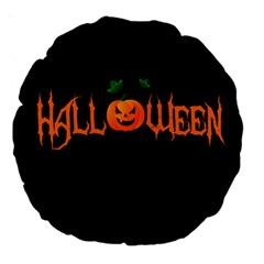 Halloween Large 18  Premium Round Cushions by Valentinaart