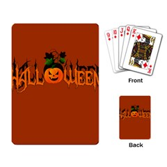 Halloween Playing Card by Valentinaart