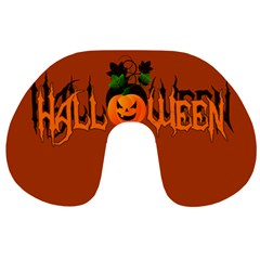 Halloween Travel Neck Pillows by Valentinaart