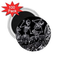 Skeletons   Halloween 2 25  Magnets (100 Pack)  by Valentinaart