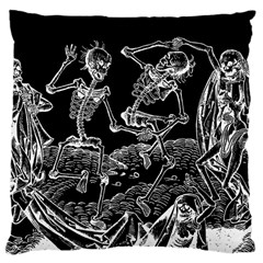 Skeletons   Halloween Large Cushion Case (two Sides) by Valentinaart