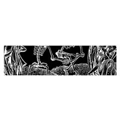 Skeletons   Halloween Satin Scarf (oblong) by Valentinaart