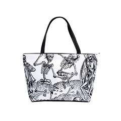 Skeletons   Halloween Shoulder Handbags by Valentinaart