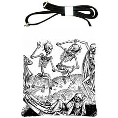 Skeletons   Halloween Shoulder Sling Bags by Valentinaart