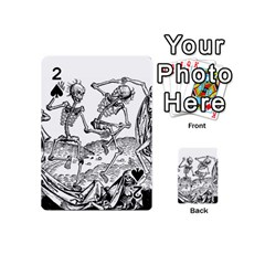Skeletons   Halloween Playing Cards 54 (mini)  by Valentinaart