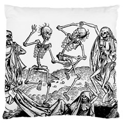 Skeletons   Halloween Large Flano Cushion Case (one Side) by Valentinaart