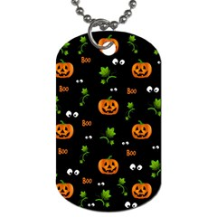 Pumpkins   Halloween Pattern Dog Tag (two Sides) by Valentinaart