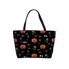 Pumpkins   Halloween Pattern Shoulder Handbags by Valentinaart