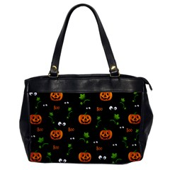 Pumpkins   Halloween Pattern Office Handbags by Valentinaart