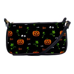 Pumpkins   Halloween Pattern Shoulder Clutch Bags by Valentinaart