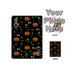 Pumpkins   Halloween Pattern Playing Cards 54 (mini)  by Valentinaart