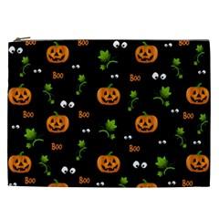 Pumpkins   Halloween Pattern Cosmetic Bag (xxl)  by Valentinaart