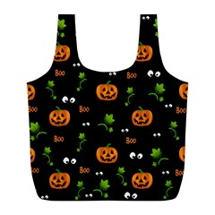 Pumpkins   Halloween Pattern Full Print Recycle Bags (l)  by Valentinaart