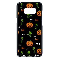 Pumpkins   Halloween Pattern Samsung Galaxy S8 Plus Black Seamless Case by Valentinaart