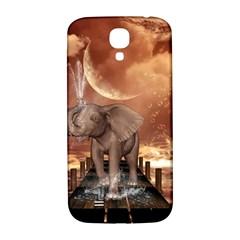 Cute Baby Elephant On A Jetty Samsung Galaxy S4 I9500/i9505  Hardshell Back Case by FantasyWorld7