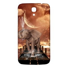 Cute Baby Elephant On A Jetty Samsung Galaxy Mega I9200 Hardshell Back Case by FantasyWorld7