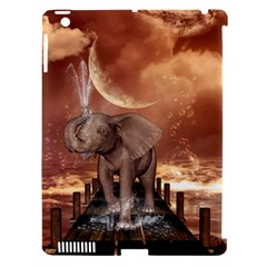Cute Baby Elephant On A Jetty Apple Ipad 3/4 Hardshell Case (compatible With Smart Cover) by FantasyWorld7
