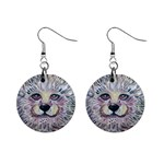 Tiger earings - 1  Button Earrings