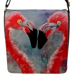 Flamingo lovers bag - Flap Closure Messenger Bag (S)