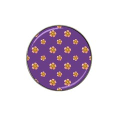 Ditsy Floral Pattern Design Hat Clip Ball Marker by dflcprints
