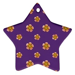 Ditsy Floral Pattern Design Star Ornament (two Sides) by dflcprints