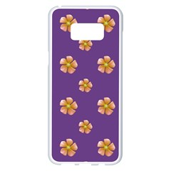 Ditsy Floral Pattern Design Samsung Galaxy S8 Plus White Seamless Case by dflcprints