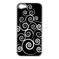 Abstract Spiral Christmas Tree Apple Iphone 5 Case (silver) by Mariart