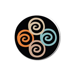 Abroad Spines Circle Magnet 3  (round) by Mariart