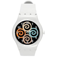 Abroad Spines Circle Round Plastic Sport Watch (m) by Mariart