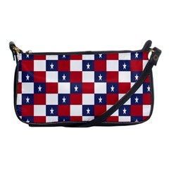 American Flag Star White Red Blue Shoulder Clutch Bags by Mariart