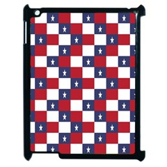 American Flag Star White Red Blue Apple Ipad 2 Case (black) by Mariart
