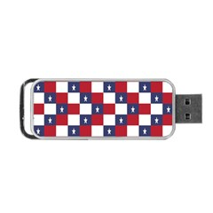 American Flag Star White Red Blue Portable Usb Flash (two Sides) by Mariart