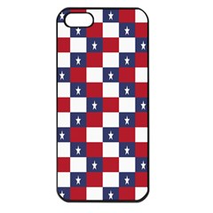 American Flag Star White Red Blue Apple Iphone 5 Seamless Case (black) by Mariart