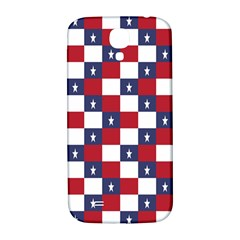 American Flag Star White Red Blue Samsung Galaxy S4 I9500/i9505  Hardshell Back Case by Mariart